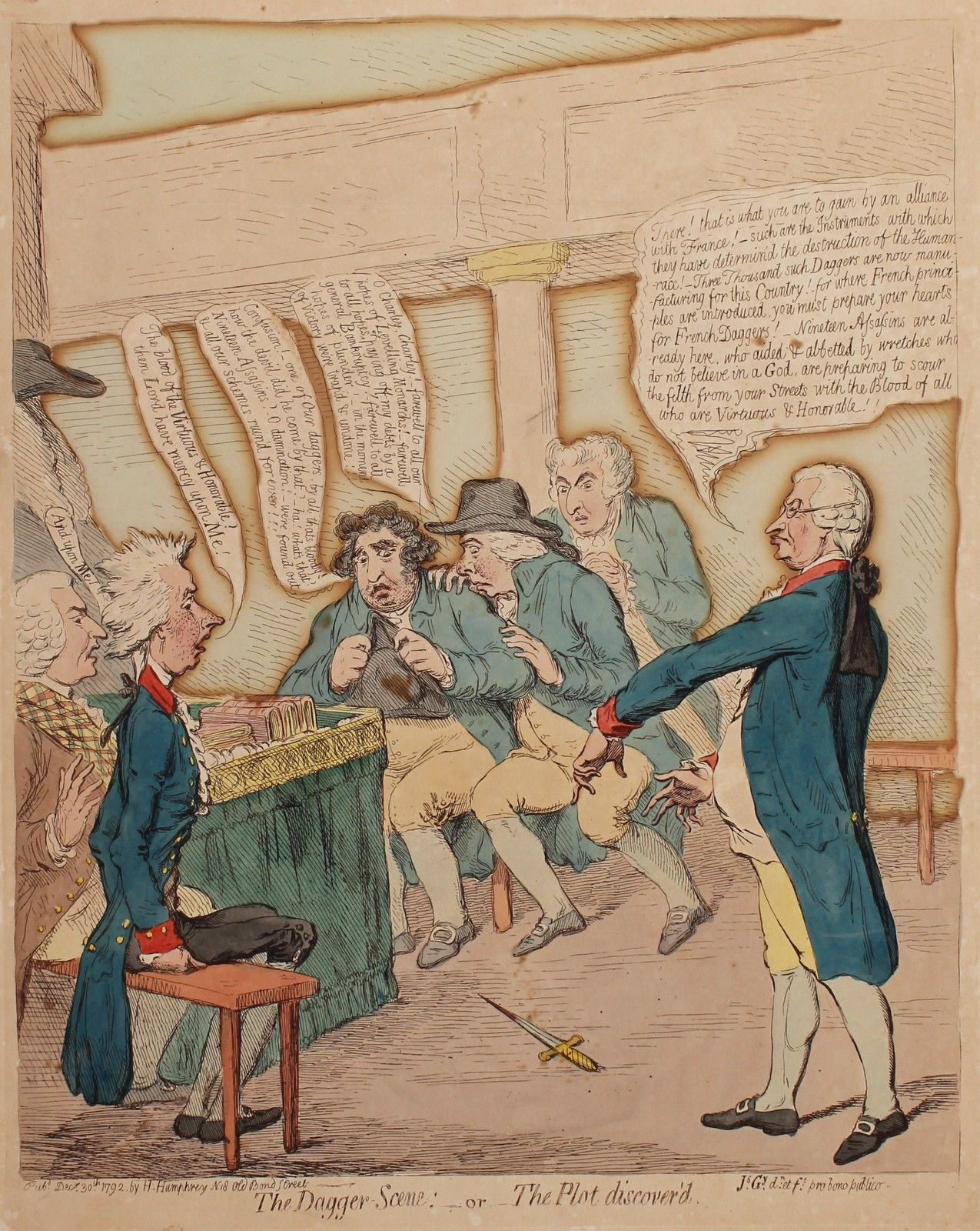 An Incredibly Rare Authentic Georgian Caricature By The Master Of