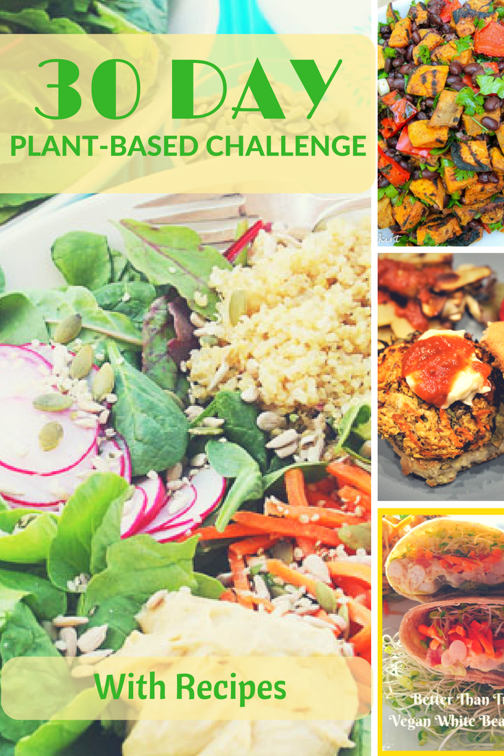 Get Healthy A 30 Day Plant Based Challenge With Recipes Quick Vegetarian Meals Vegetarian Recipes Vegan Challenge