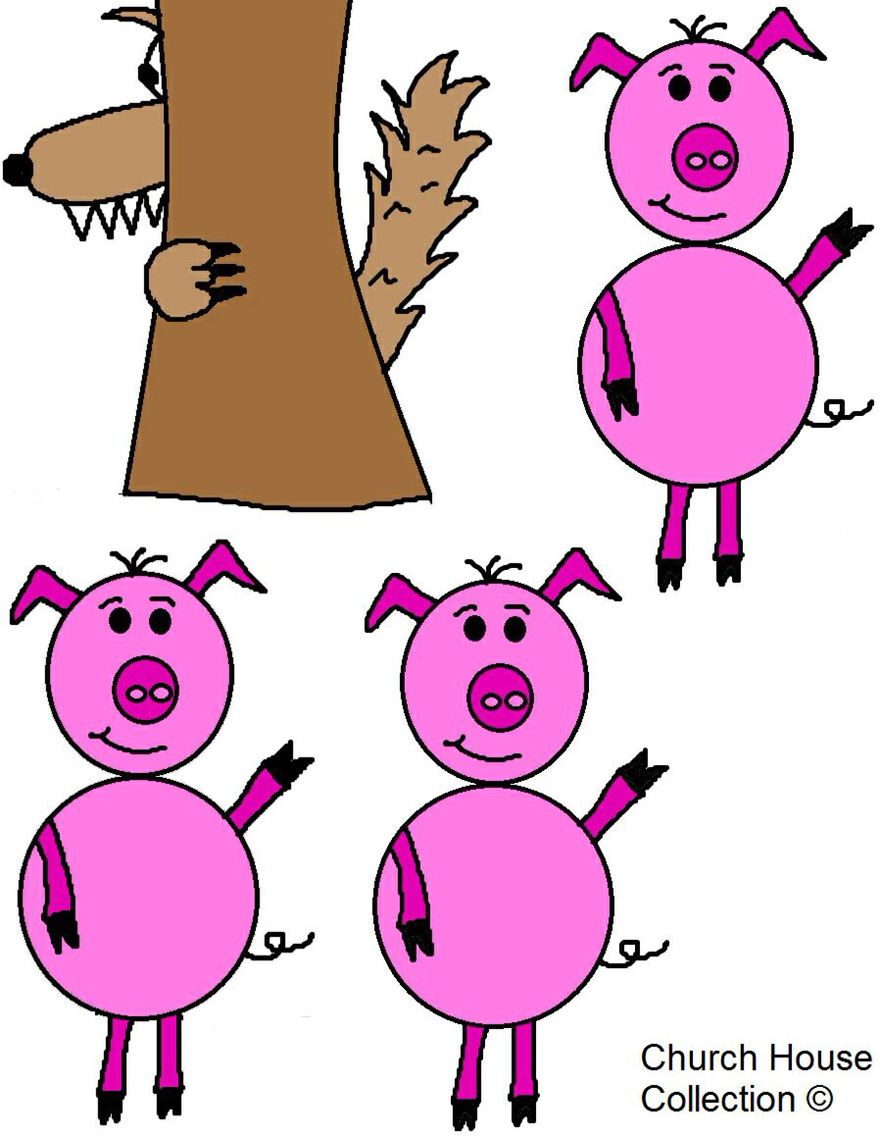 The Three Little Pigs | My Cute Cuddly Lil Piggies... | Pinterest