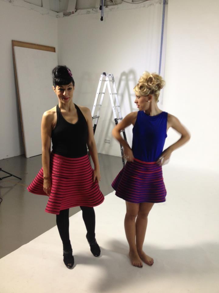 Foto | Sesión de video | faldas #efectolimon ;)) - c/ Cotoners 12 Barcelona