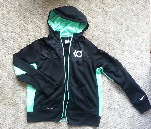Nike KD Kevin Durant therma fit fleece hoodie sweatshirt jacket XL 18-20  EUC  Nike  FleeceJacket e148e0d5dfd1