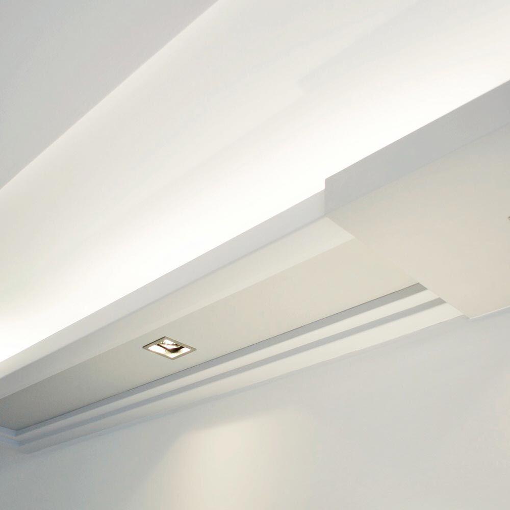 Diese Stuckleiste Kombiniert Downlights Perfekt Zum Lesen Arbeiten Und Indirektebeleuchtung Tolle Indirekte Beleuchtung Innenarchitektur Raumgestaltung