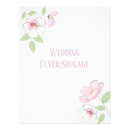 Cherry Blossoms Blank Wedding Flyer  Weddings And Wedding
