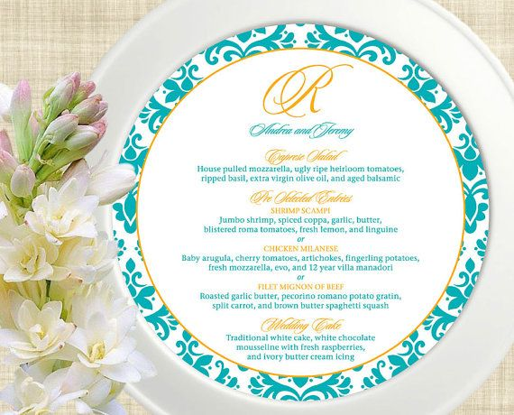 Event Menu Template Vintage Wedding Menu Card Elegant Flourish X