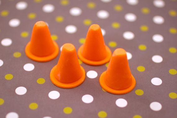 3D Traffic Cone Construction Fondant Cake by YourCupcakeStory, $12.00