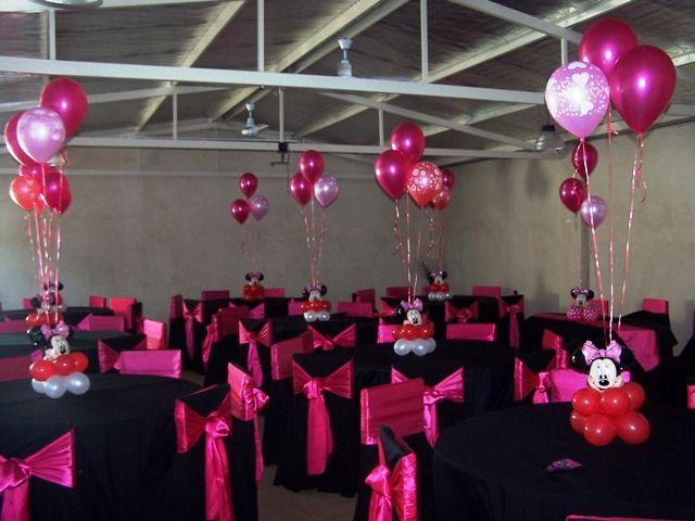 Decoraciones de centro de mesa cumplea os de minnie globos - Decoraciones de mesas ...