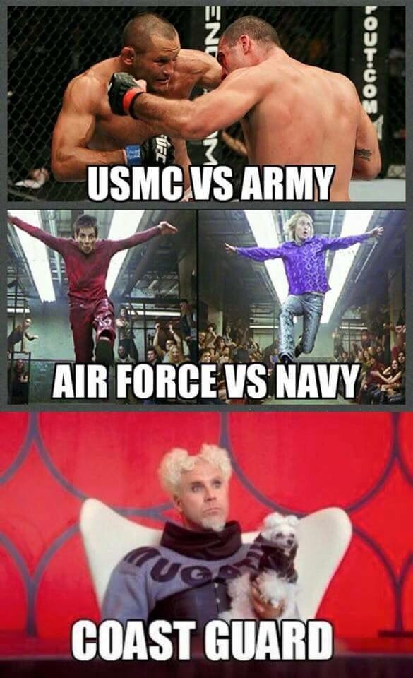 usmc vs army air force vs navy coast guard military meme war