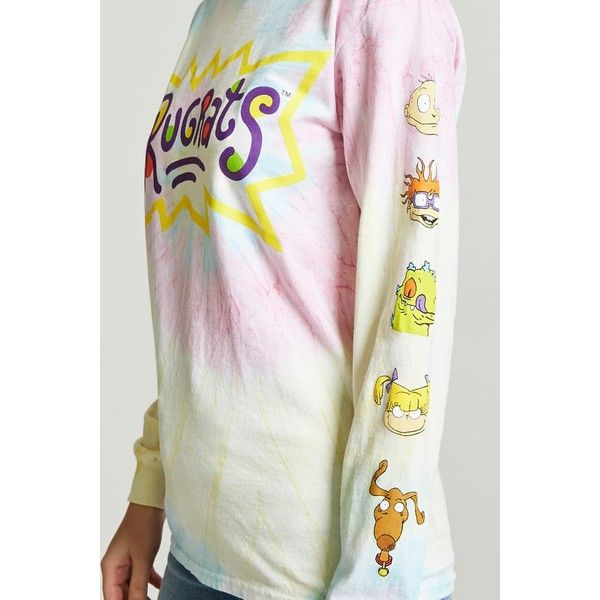 5db58bbc445 Forever21 Rugrats Graphic Tie-Dye Tee ( 20) ❤ liked on Polyvore featuring  tops