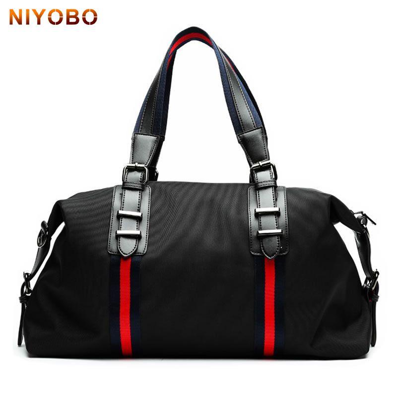 32729ab555c Large Travel Bag Waterproof Nylon Men Bags Fashion Casual Women Weekend Travel  Duffle Tote Bags Crossbody