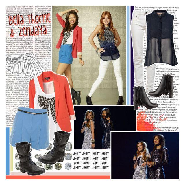 """Bella & Zendaya"" by hootowl96 ❤ liked on Polyvore featuring D&G, H&M, Proenza Schouler, A Wear, Saint Tropez, Steve Madden and Christian Louboutin"