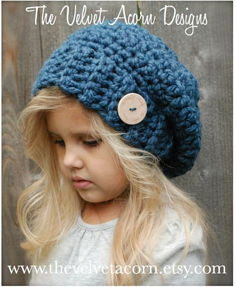 Crochet PATTERN-The Nevaeh Slouchy (12/18 months, Toddler, Child ...
