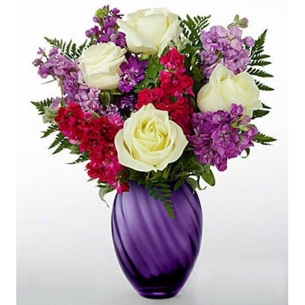 Stunning Stylish Purple Flower Arrangements With