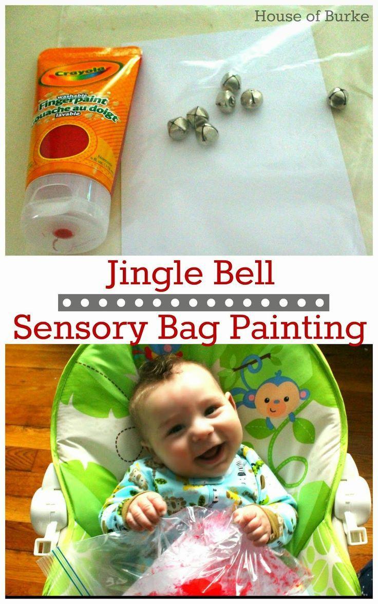 Jingle Bell Sensory Bag Painting Infant Lesson Plans Infant Classroom Infant Activities