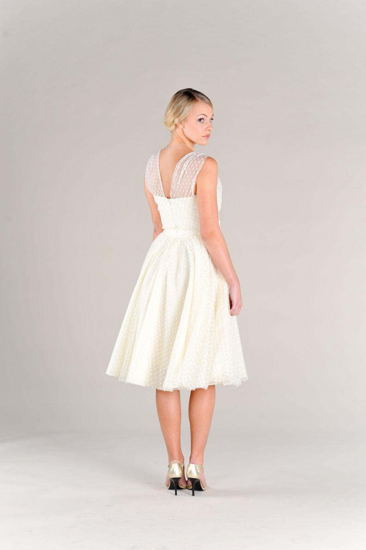 Black Friday Cyber Monday Short Wedding Dress Polka Dots Vintage 50s ...