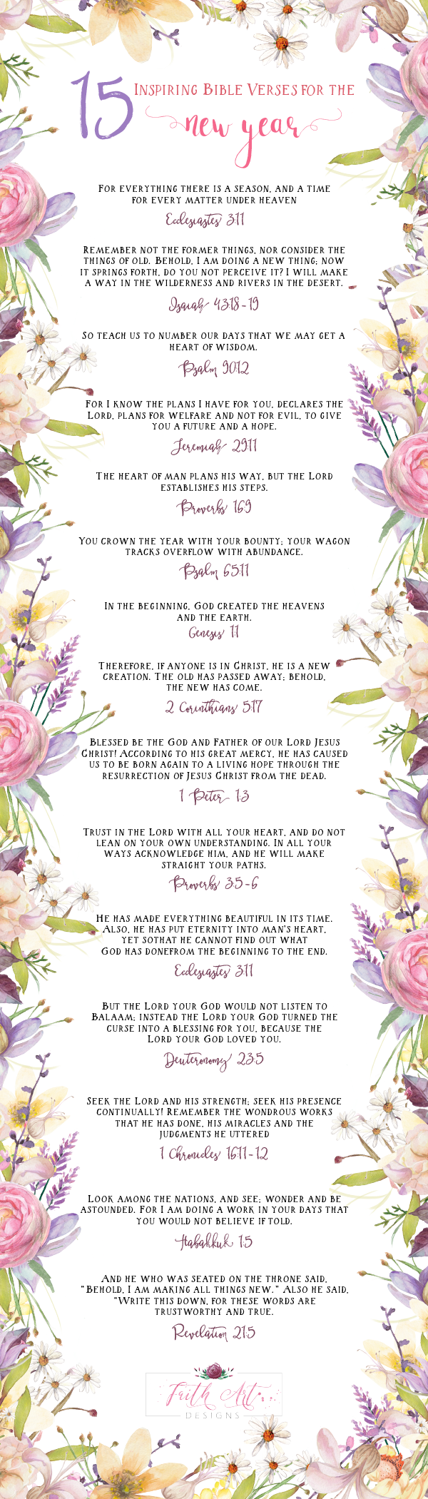 15 Inspiring Bible Verses for the New Year! | Quotes | Pinterest ...