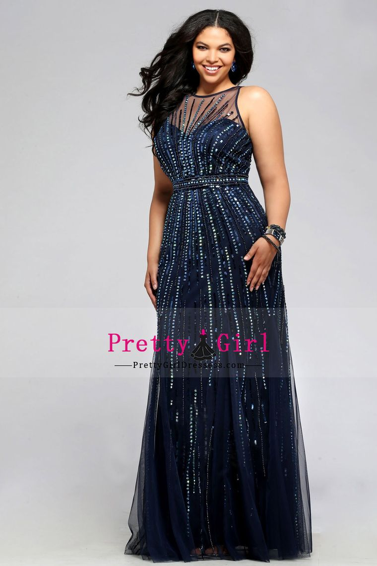 45050175125 2016 Plus Size Prom Dresses Scoop A Line Tulle With Beading