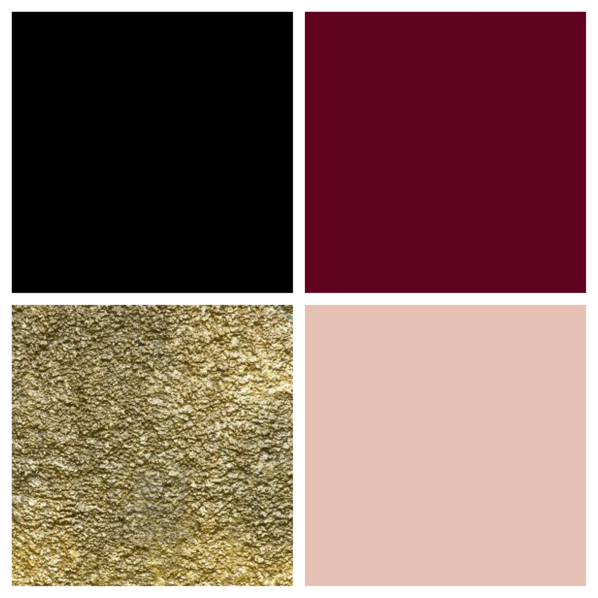 I Created This A Theme Color Palette Of Black Bordeaux Gold
