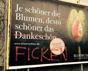 Werbeplakat Plakat Werbung Blumen Valentinstag Ficken
