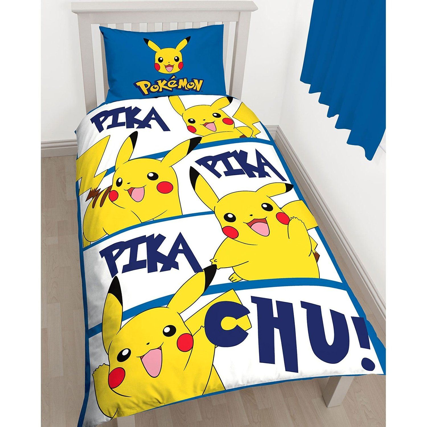 Pokemon Pikachu Action Single Duvet Cover Set Inc Pillowcase Amazoncouk