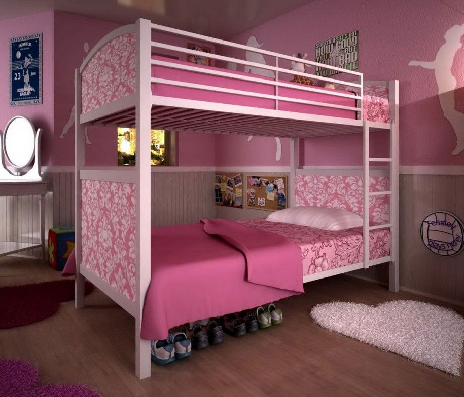 fascinating teenage girl bedrooms bunk bed | Wonderful Tween Bedroom Ideas for Girls: Interesting ...