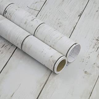 Haokhome Mr47 Peel And Stick Wood Wallpaper Shiplap Light Grey White Distressed Wood Plank Removab Wood Wallpaper Peel And Stick Wood Distressed Wood Wallpaper