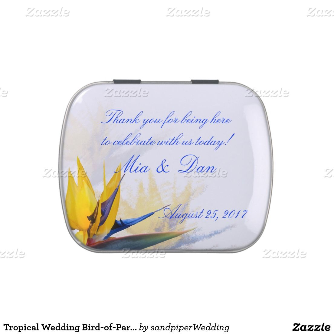 Tropical Wedding Bird-of-Paradise Candy Jelly Belly Tin | Mint tins ...