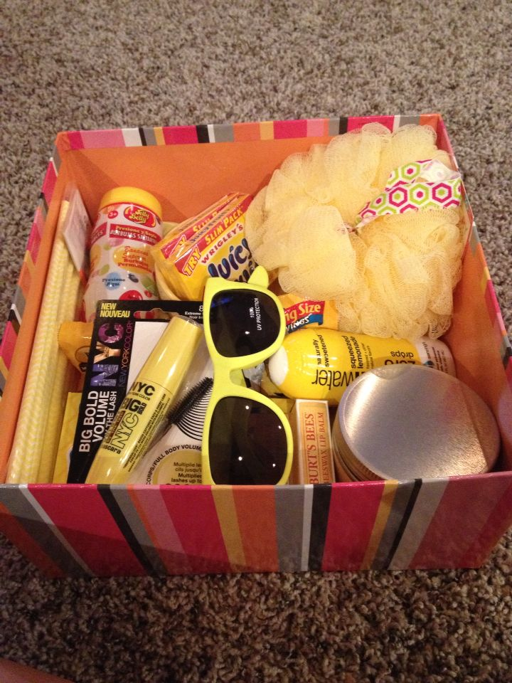 Box Of Sunshine Gift Idea To Cheer Up A Friend Items All