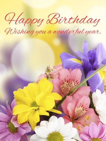 Send Free Happy Birthday Flower Cards To Loved Ones On