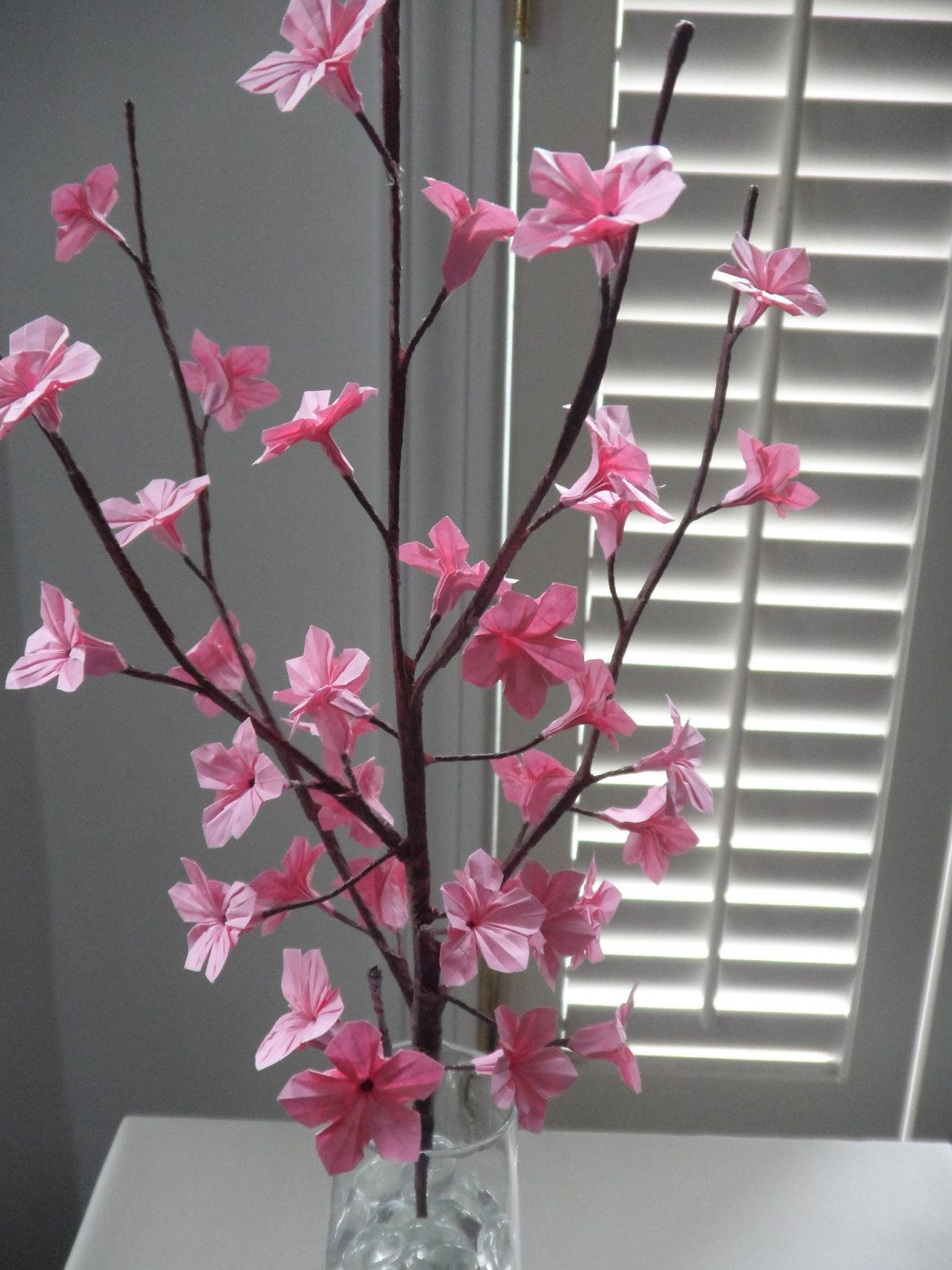 Origami Paper Cherry Blossoms - Pink   Cherries, Paper and ... - photo#43