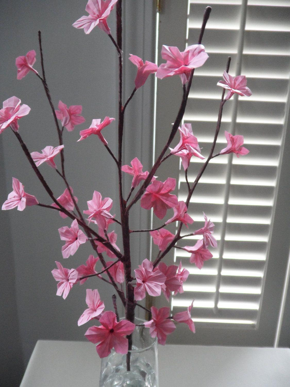 Origami Paper Cherry Blossom Flowers Cherry Blossom Origami Origami Paper Origami And Quilling