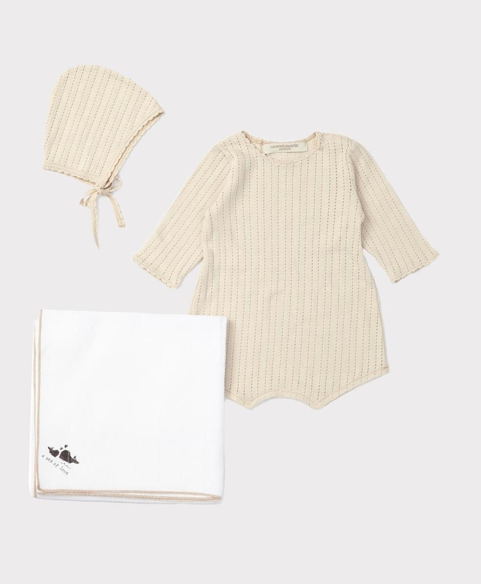 SS'16 Marcia baby Romper Gift Set, Oatmeal, Caramel Baby & Child.
