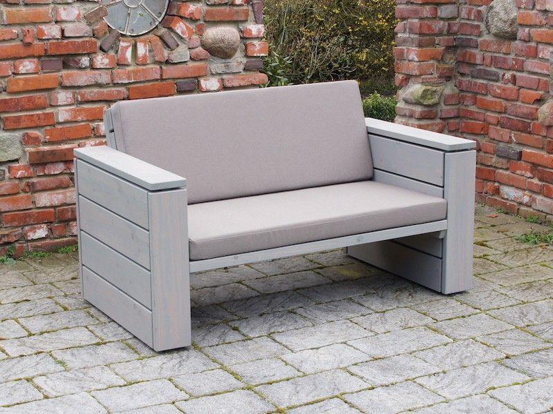 Lounge Sofa Holz, Inkl. Loungepolster in verschiedenen ...