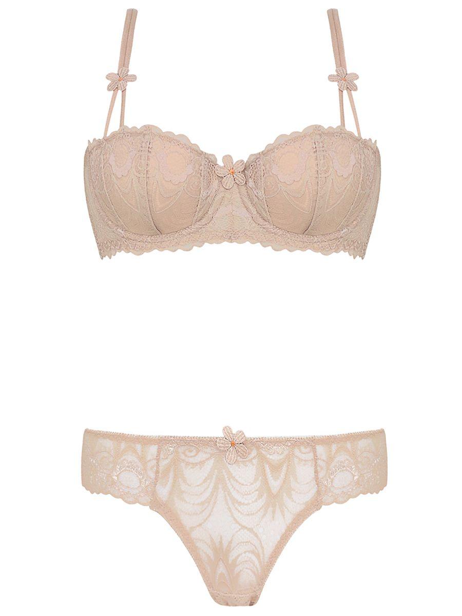 3fd928223 Burvogue Womens Thin Transparent Underwear Lace Bra Sets Lingerie ...