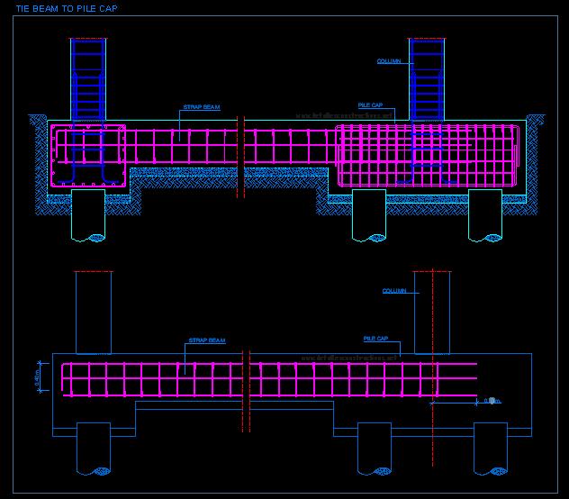 Pile Caps Detallesconstructivos Net Beams Civil