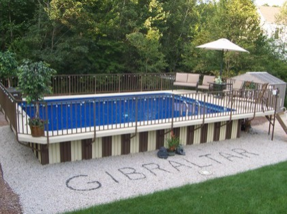 A Gibralter Semi Inground Pool Will Create The Perfect