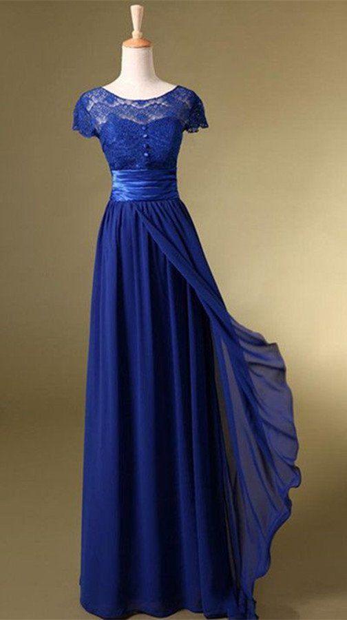 Royal Blue Long Charming Prom Dress/Evening Dress,Homecoming dress
