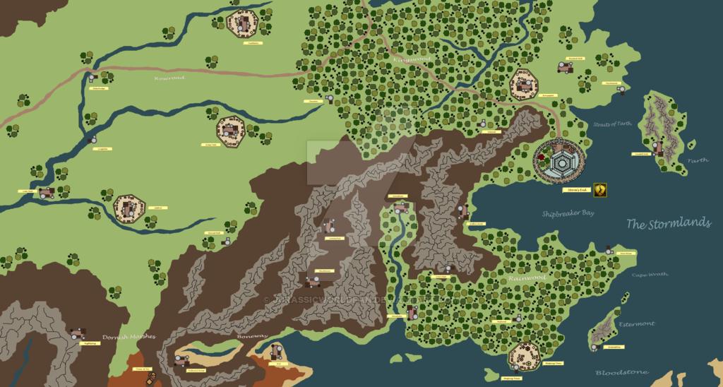 Westeros Map: Stormlands | The Stormlands (Game Of Thrones