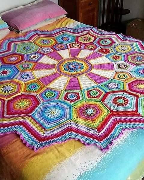 Pin von Nan NK auf 1_crochet pillows and blanket/ afghans/throws ...