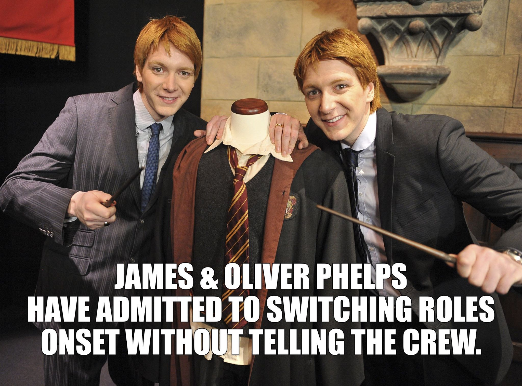 Mischief Managed Oliver Phelps Fred And George Weasley Phelps Twins