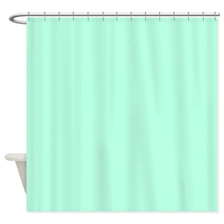 Solid Mint Green Shower Curtain | Pinterest | Green shower curtains ...