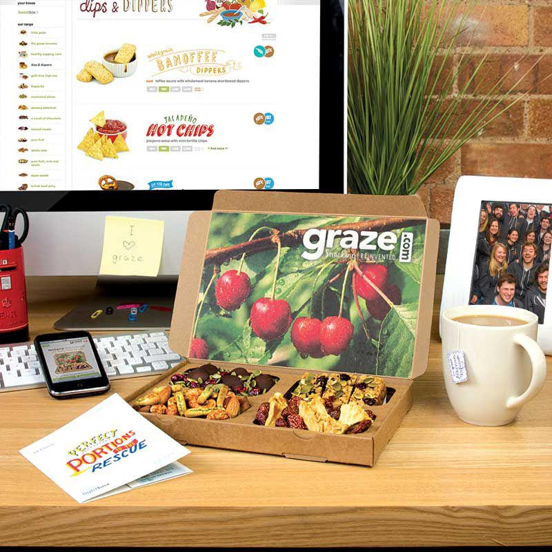 graze snacks by mail only 6.49 a box including