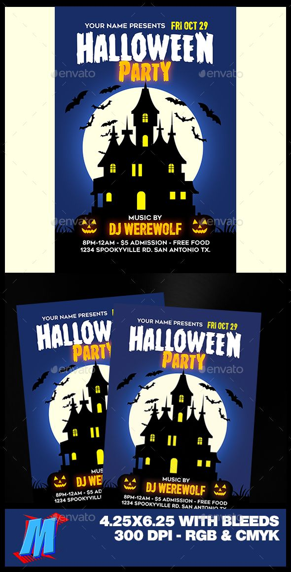 Halloween Party Flyer Template Halloween party flyer, Party flyer - halloween template