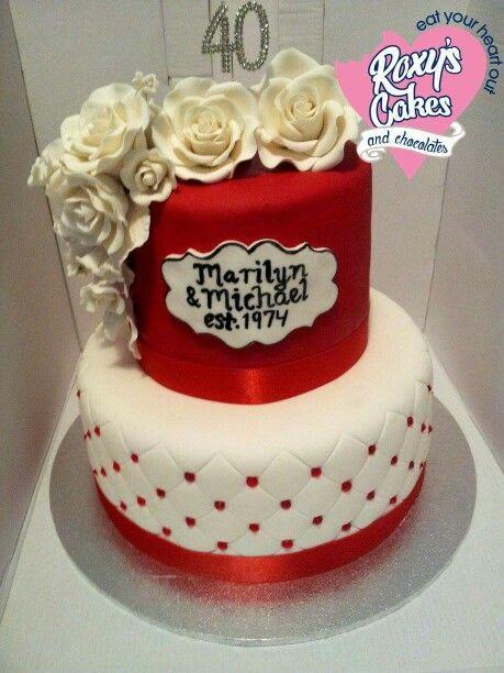 40th Anniversary Cake Celebration Cakes