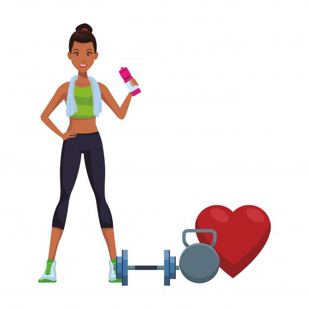 Fitness Woman Cartoon Fitness Design Fit Women Workout Posters