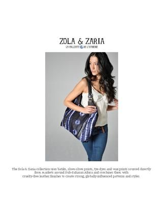 Zola & Zaria Collection, African Inspired, 2012 F/W Lookbook, Shoulder Tote, $165