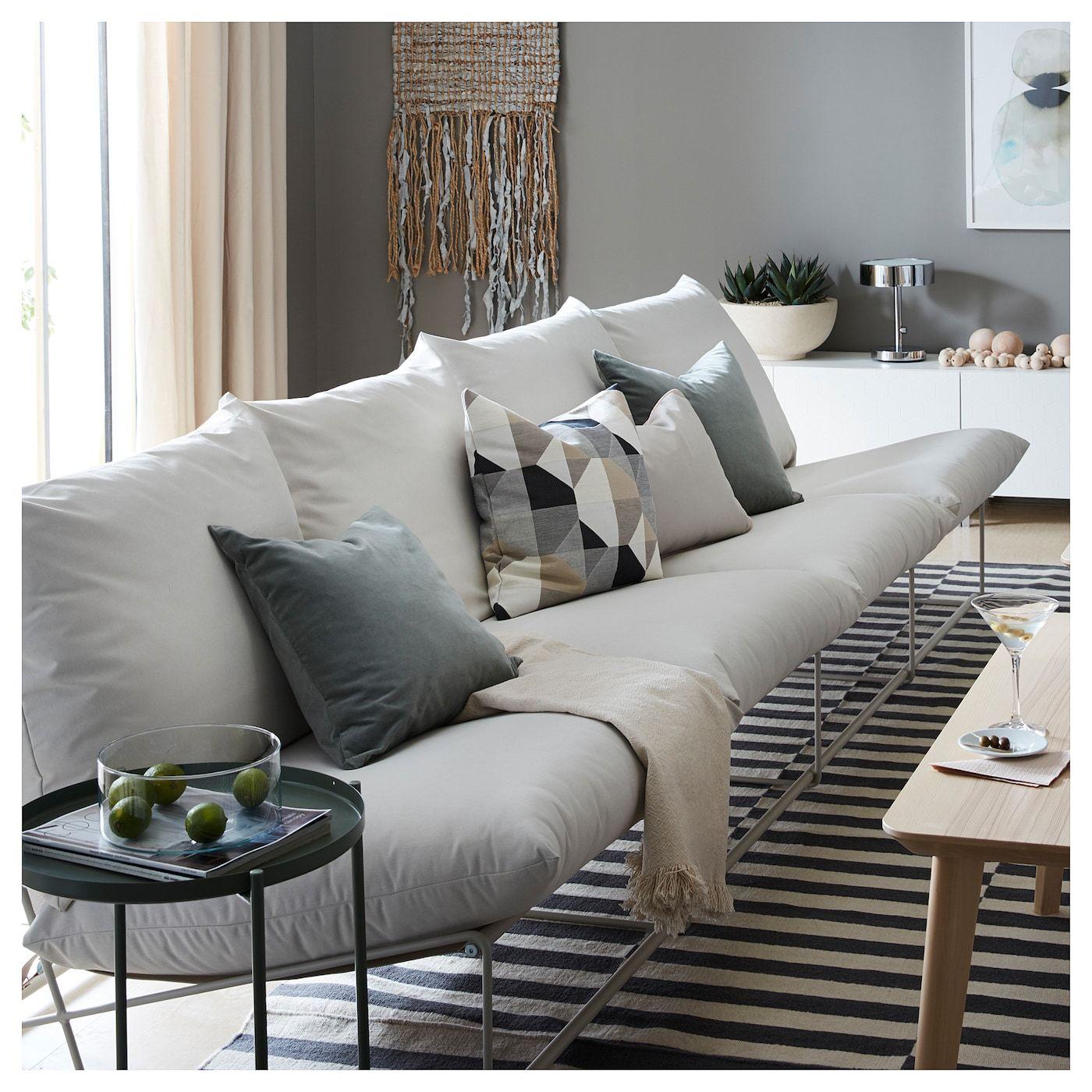 Ikea Havsten 4 Seat Sofa In Outdoor Without Armrests Beige In