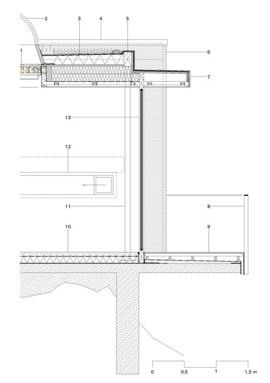 Gallery Of Lake House Lhvh Architekten 12 Roof Architecture Construction Drawings Roof Detail