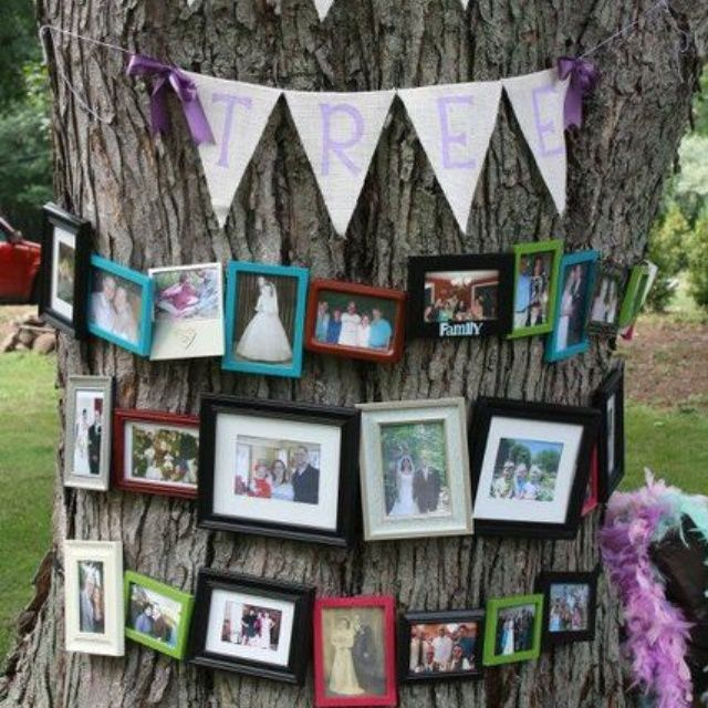 Outdoor party idea for picture display Party Ideas Pinterest