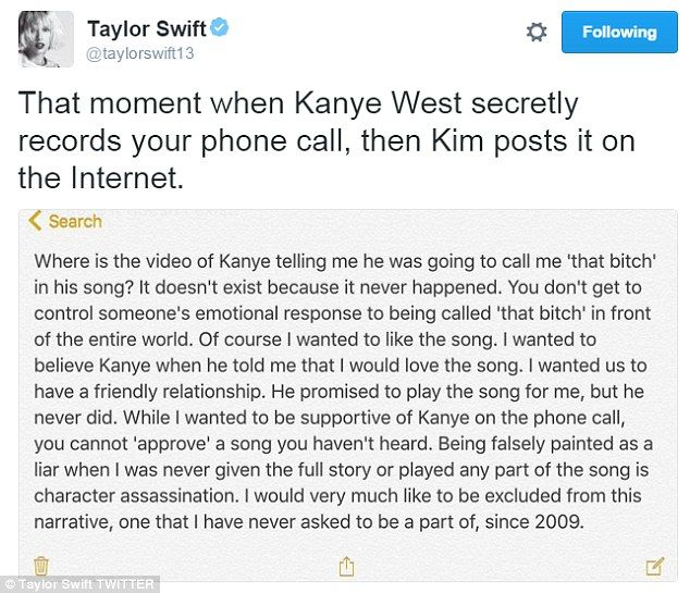 Kim Kardashian Snapchats Herself Singing Those Lyrics About Taylor Taylor Swift Videos Taylor Swift Taylor Swift Lyrics