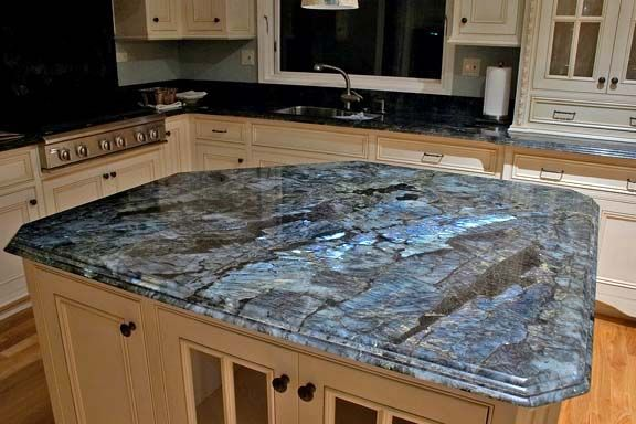 Dynamic Blue Granite Kitchen Countertop Island Installed Finished Countertops Best